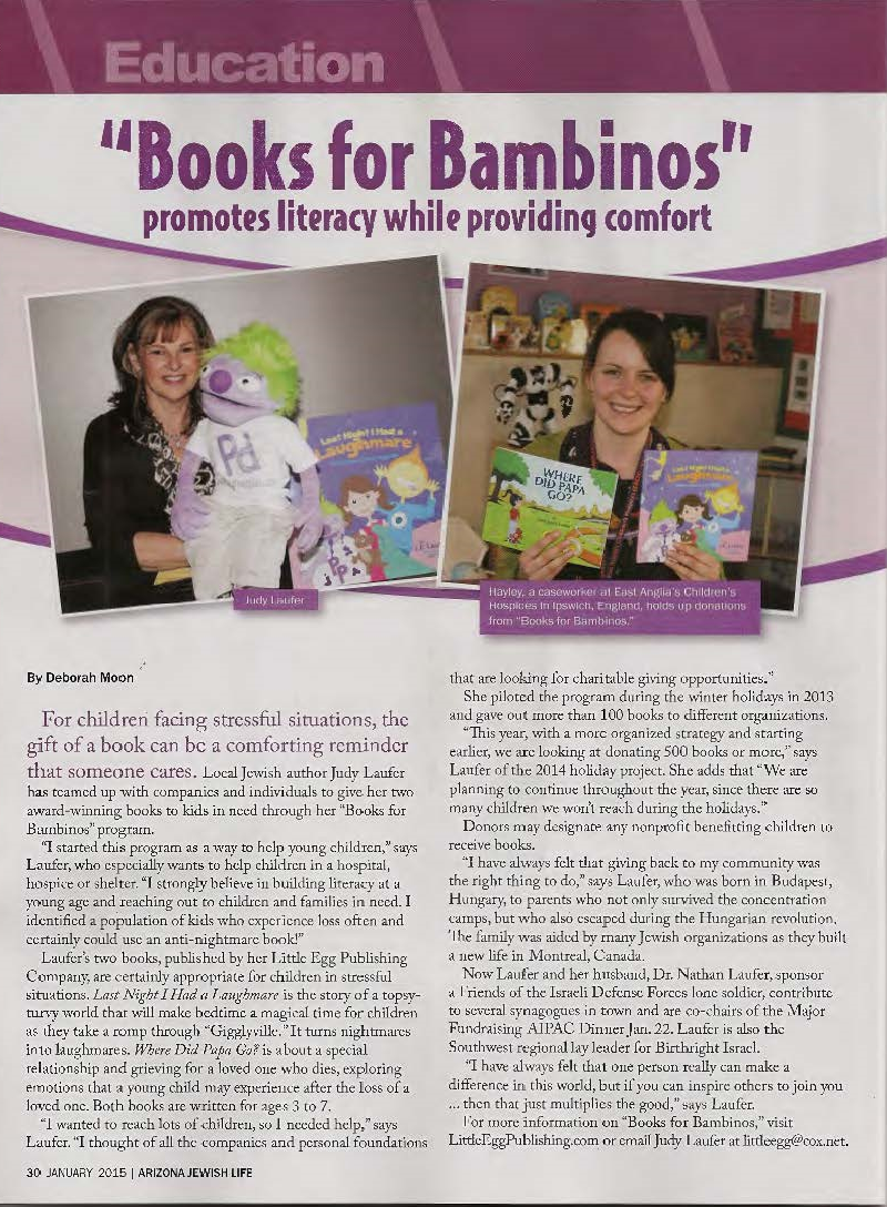 Books for Bambinos - Promotes literacy while providing comfort
