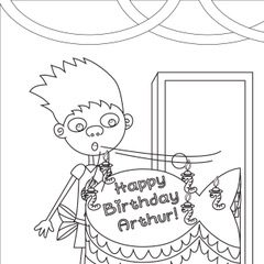 What's YOUR Birthday Wish Coloring Page
