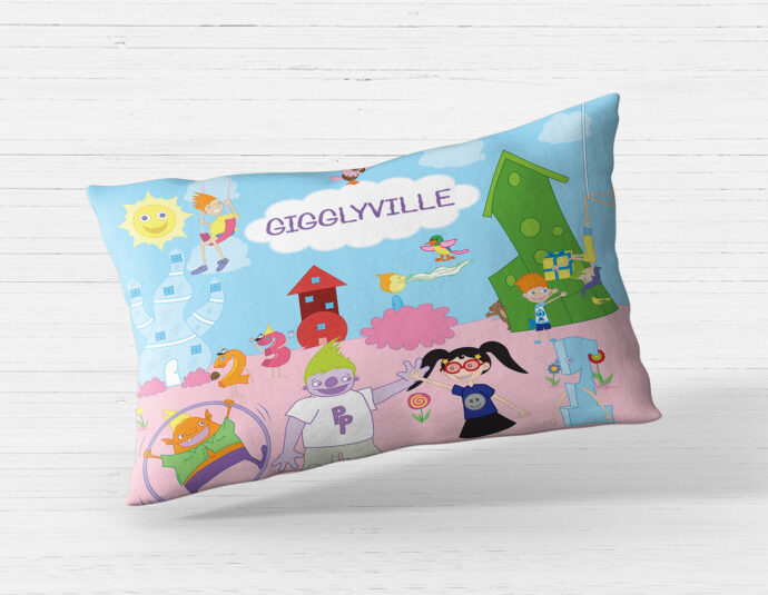 Gigglyville Pillowcase